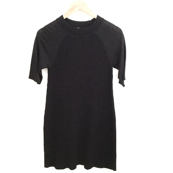 Free People Dresses & Skirts - Free People | Short Sleeve Ribbed Dress Black Sz S